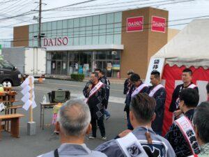 袋井北祭り本部開き 統一委員長の挨拶