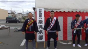 鈴木頭取と岡本祭典本部長